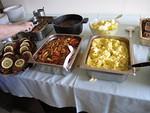 Toisena talkoopäivänä pääruokana oli Wieninleikettä ja perunamuusia.