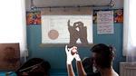 Videotykki toimi välillä harjoitteluvälineenä.
